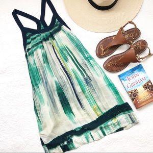 Lucky Brand 100% silk sundress halter dress